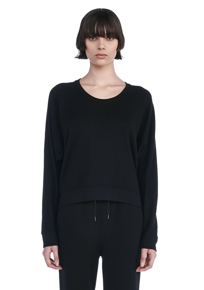 T by ALEXANDER WANG TOPS Women SOFT FRENCH TERRY SWEATSHIRT