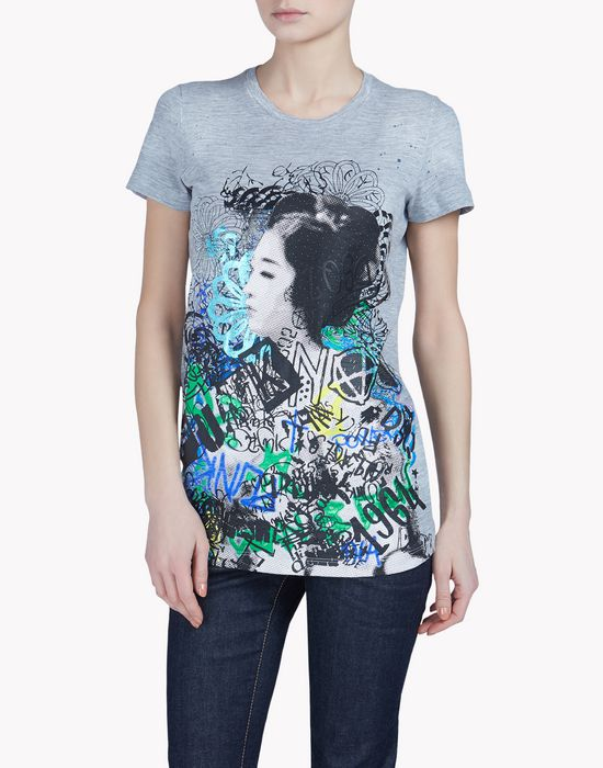 liza fit t-shirt tops & tees Woman Dsquared2