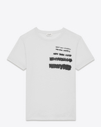 special projects new york sign 1 t-shirt in vintage ivory and black cotton jersey