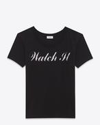 スペシャルプロジェクト「watch it」tシャツ(ブラック&グレーグラデーション / コットンジャージー)