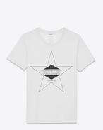 PALLADIUM T-shirt in Ivory and Black Cotton Jersey