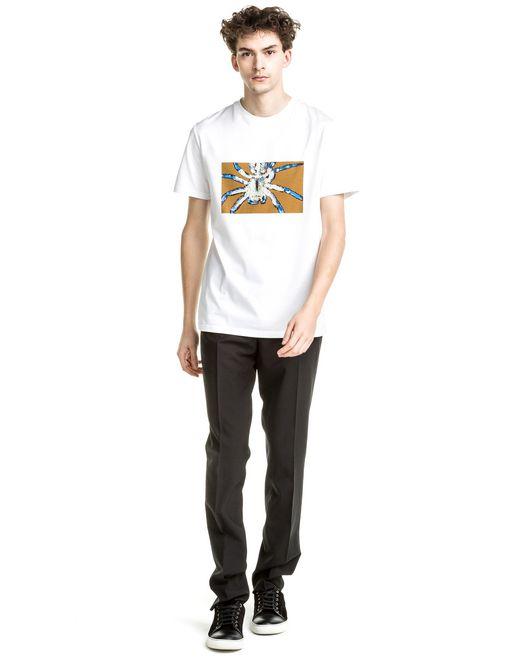"lanvin slim fit white ""spider framed"" t-shirt men"