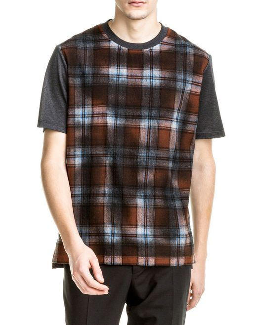 "lanvin two-fabric ""overdyed"" t-shirt men"