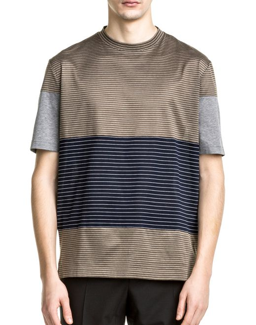 lanvin khaki, navy blue and grey t-shirt men