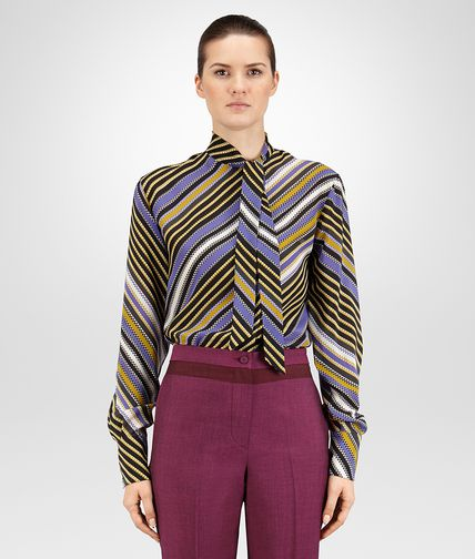 SHIRT IN MULTICOLOR PRINTED CREPE DE CHINE