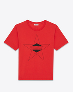 PALLADIUM T-shirt in Red and Black Cotton Jersey