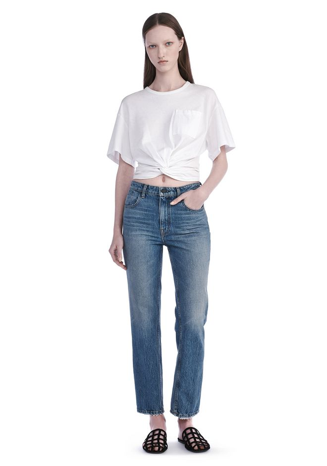 T by ALEXANDER WANG new-arrivals FRONT TWIST SHORT SLEEVE TEE