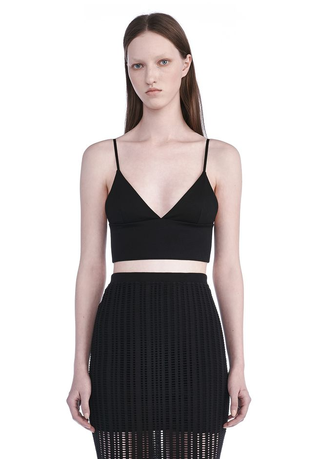 T by ALEXANDER WANG TOPS Women LUX PONTE TRIANGLE BRALETTE
