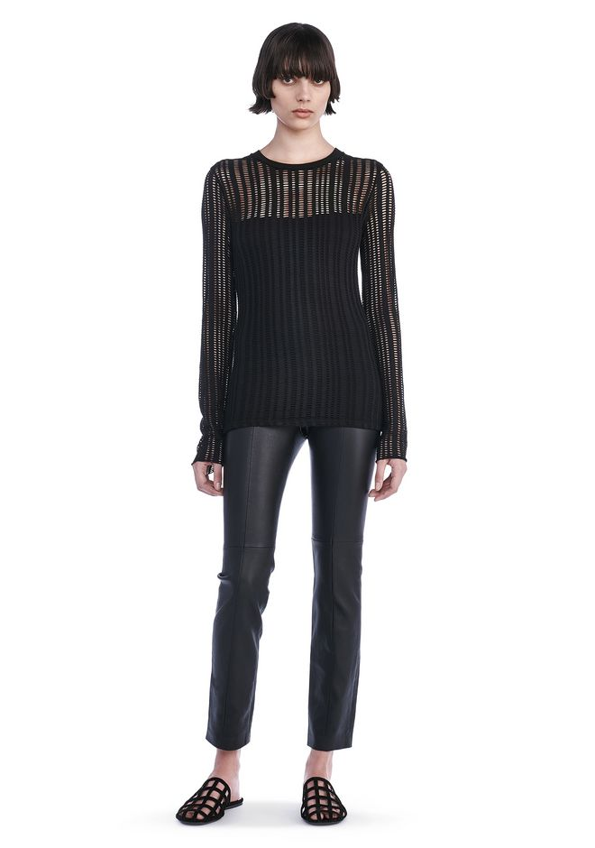 T by ALEXANDER WANG new-arrivals STRETCH JACQUARD LONG SLEEVE TOP