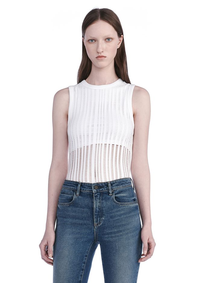 T by ALEXANDER WANG TOPS Women STRETCH JACQUARD TANK TOP