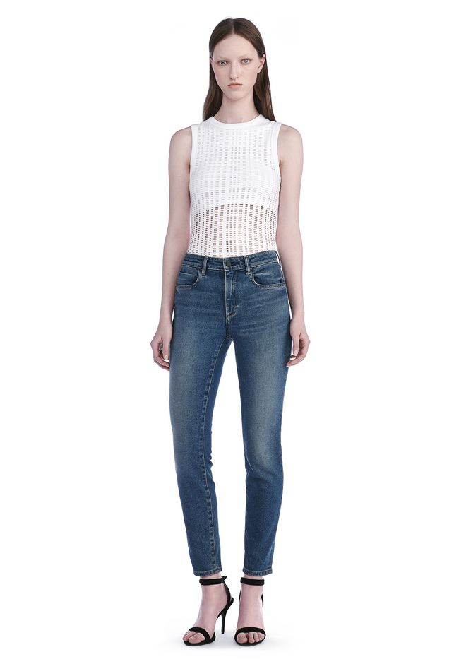 T by ALEXANDER WANG new-arrivals STRETCH JACQUARD TANK TOP