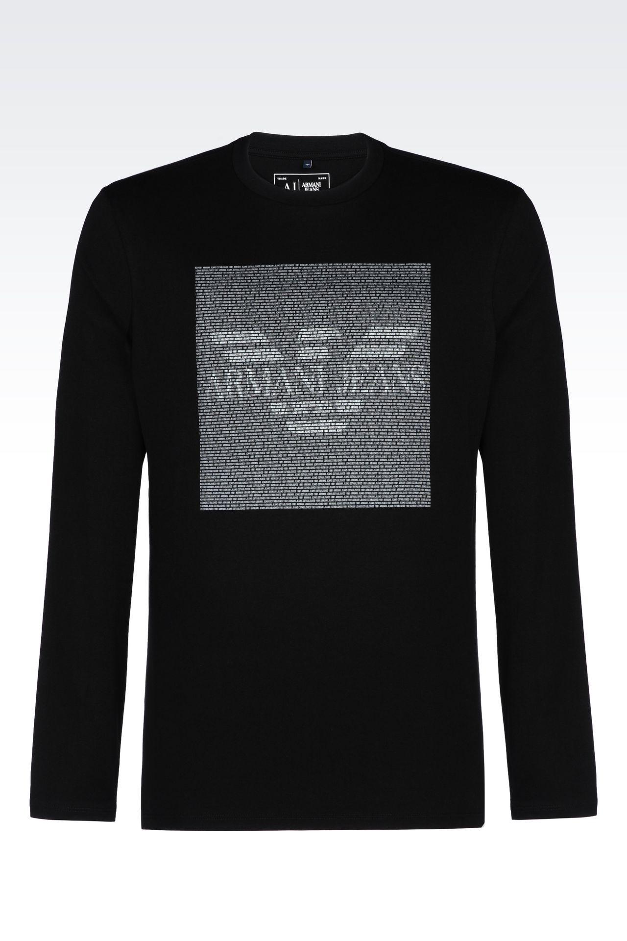 jersey t shirt print t shirts men by armani 0. Black Bedroom Furniture Sets. Home Design Ideas