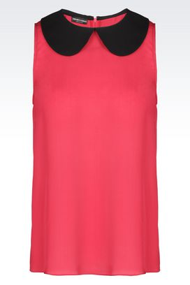 Armani Sleeveless tops Women silk top