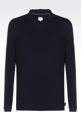 Armani Long-sleeved polos Men jersey polo shirt