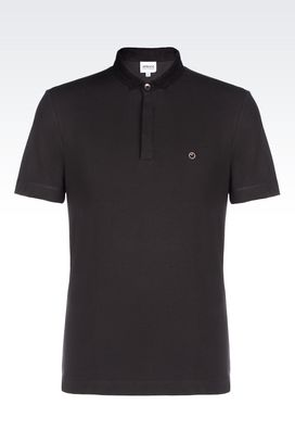 Armani Short-sleeved polos Men polo shirt in cotton pique