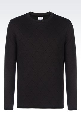 Armani Print t-shirts Men sweater in jacquard jersey