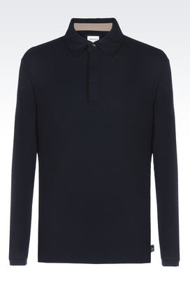 Armani Polos manches longues Homme polo en jersey