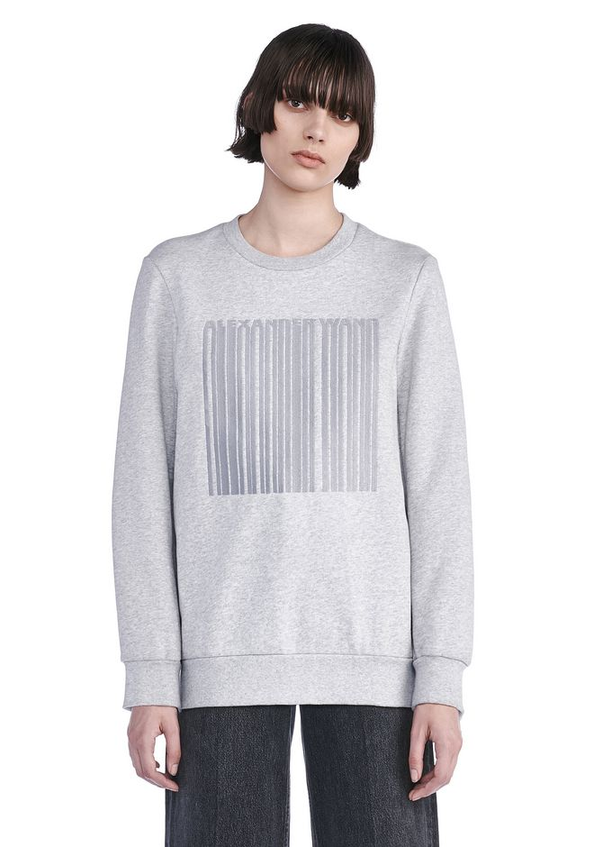 ALEXANDER WANG new-arrivals OVERSIZED SWEATSHIRT WITH BARCODE EMBROIDERY