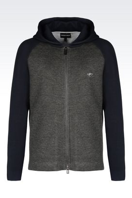 Armani Hoodies Men blouson in jersey