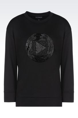 Armani Sweatshirts Women sweatshirt in interlock