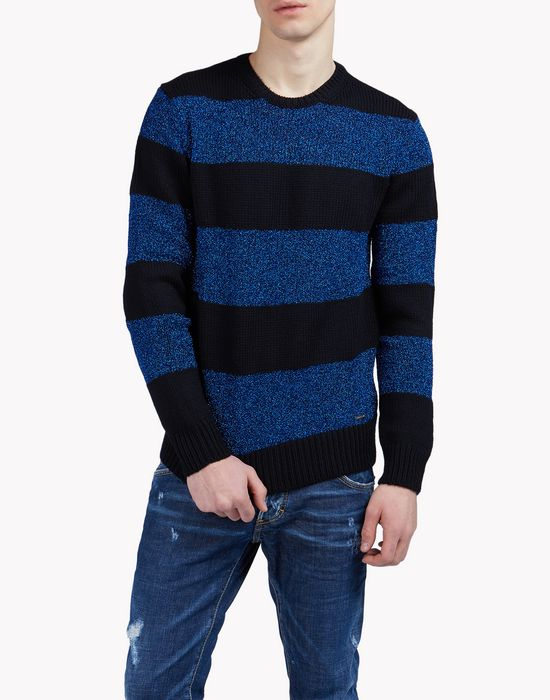 striped metallic sweater camisetas y tops Hombre Dsquared2