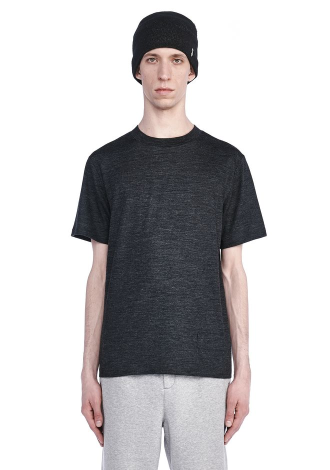 T by ALEXANDER WANG TOPS SHORT SLEEVE MOCK NECK TEE