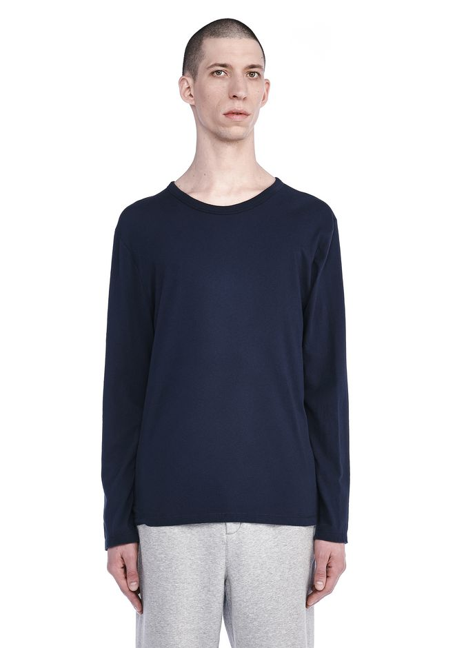 T by ALEXANDER WANG TOPS Men CLASSIC LONG SLEEVE TEE