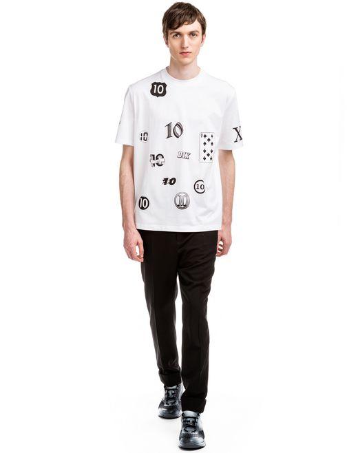"""lanvin white """"10 years"""" t-shirt men"""