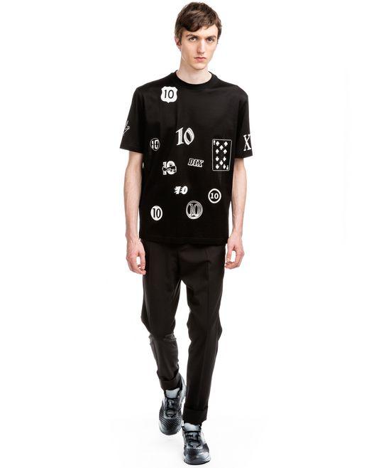 "lanvin black ""10 years"" t-shirt men"