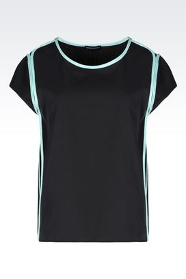 Armani Short-sleeved tops Women top in gabardine