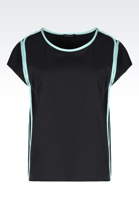 OFFICIAL STORE EMPORIO ARMANI - Tops  - Hauts manches courtes on armani.com