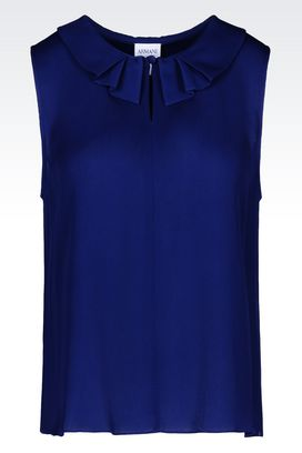 Armani Sleeveless tops Women top in georgette