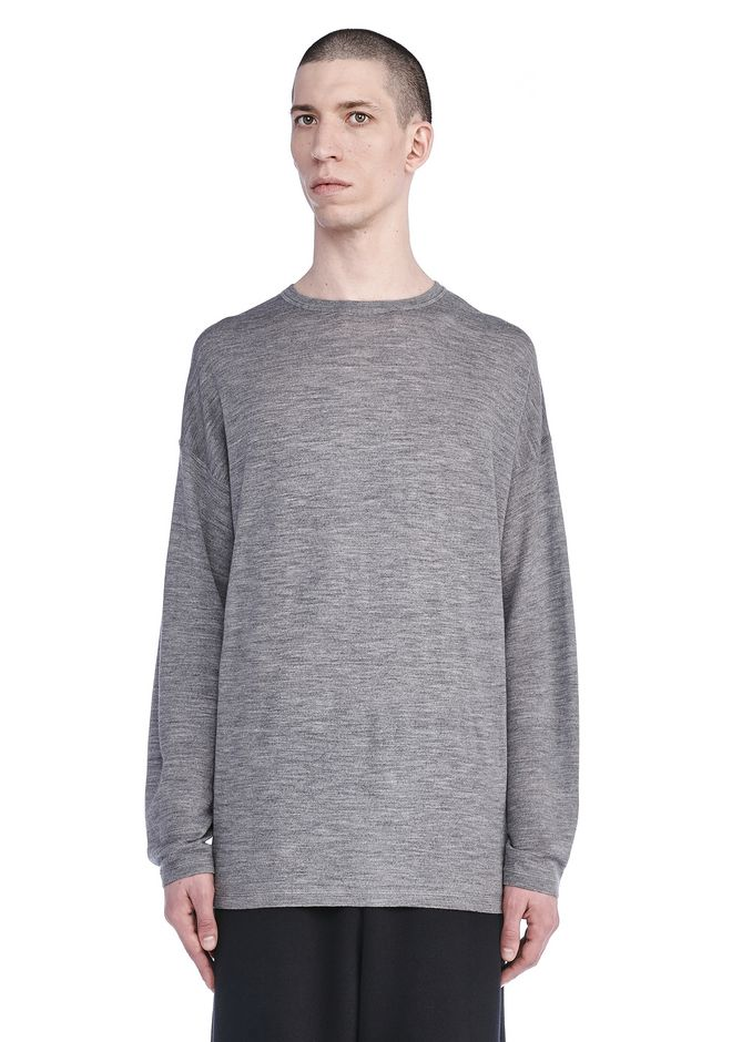 T by ALEXANDER WANG TOPS Men MERINO WOOL LONG SLEEVE SWEATER