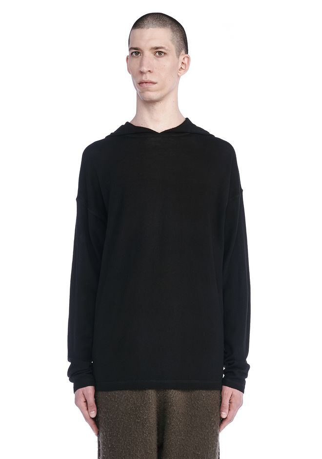 T by ALEXANDER WANG TOPS Men MERINO WOOL HOODIE