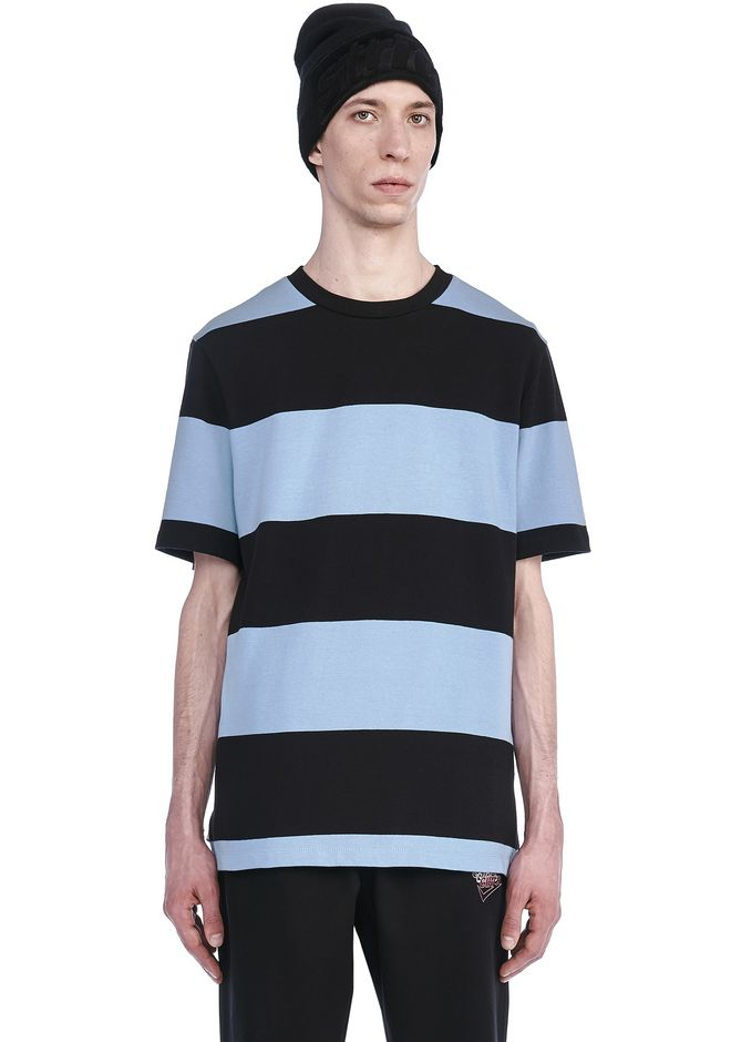 T by ALEXANDER WANG TOPS Men STRIPED SHORT SLEEVE TEE