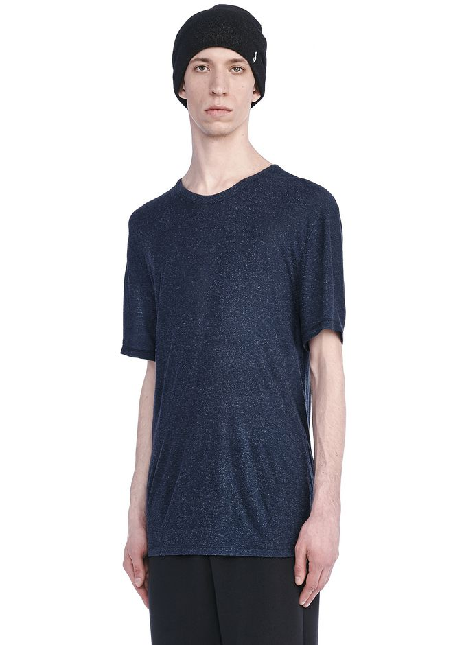 T by ALEXANDER WANG TOPS Men SLUB RAYON SILK CREWNECK TEE