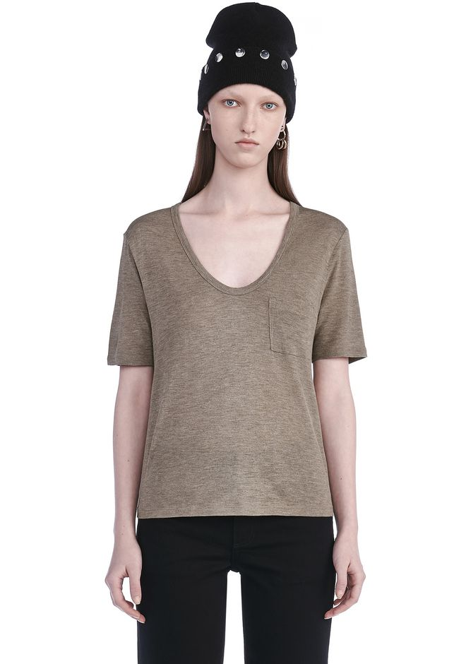 T by ALEXANDER WANG TOPS Women CLASSIC CROPPED SHORT SLEEVE TEE