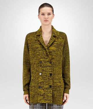 CARDIGAN IN BLACK ANCIENT GOLD CHINÉ SOFT CASHMERE