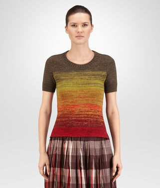 SWEATER IN MULTICOLOR DEGRADE DRY WOOL