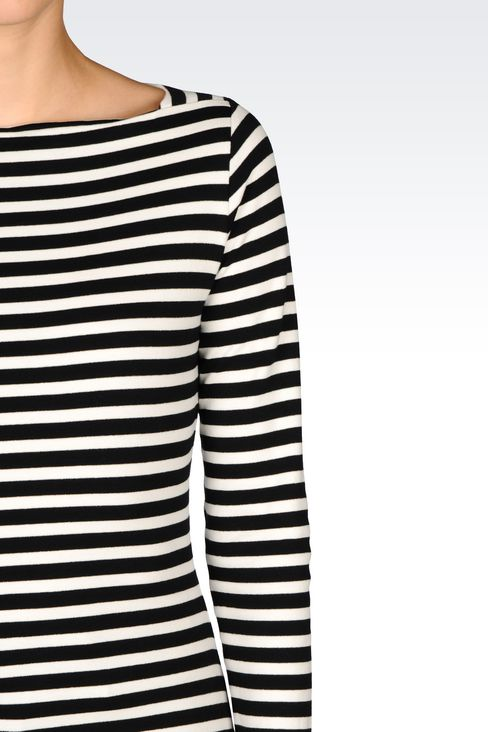 T-SHIRT IN INTERLOCK: Print t-shirts Women by Armani - 3