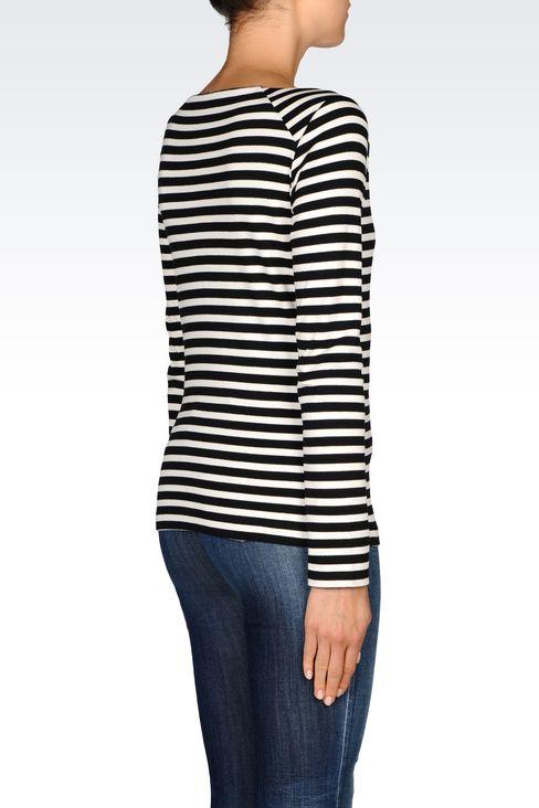 T-SHIRT IN INTERLOCK: Print t-shirts Women by Armani - 4