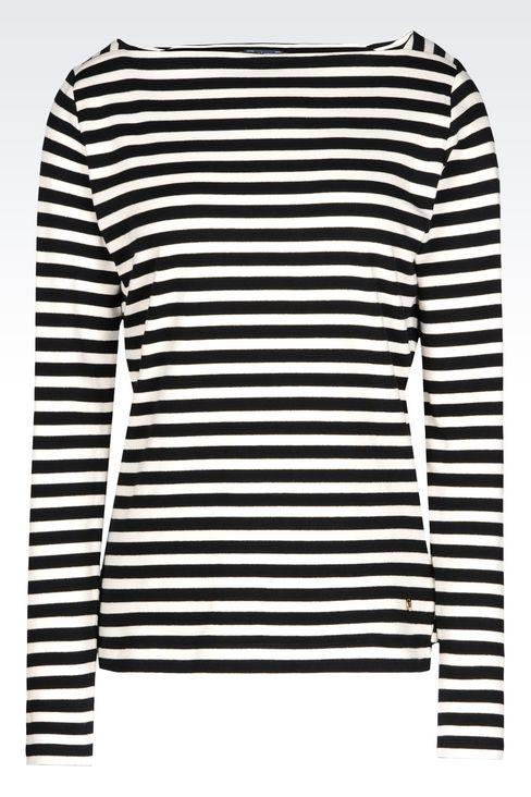 T-SHIRT IN INTERLOCK: Print t-shirts Women by Armani - 1