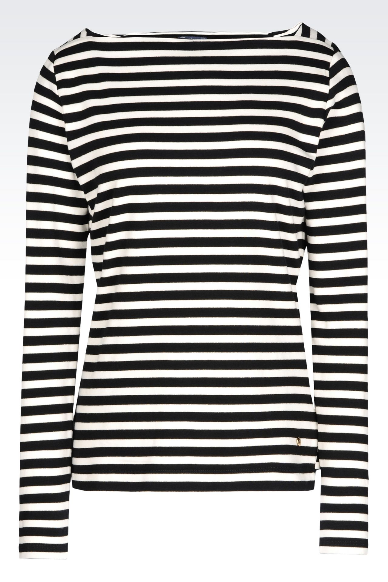 T-SHIRT IN INTERLOCK: Print t-shirts Women by Armani - 0