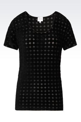 Armani Print t-shirts Women t-shirt in viscose blend
