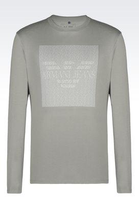 Armani Tshirt stampate Uomo t-shiirt in jersey