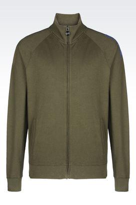 Armani Zip sweatshirts Men visibility line full zip cotton sweatshirt
