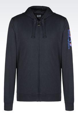 Armani Hooded sweatshirts Men visibility line hooded cotton sweatshirt