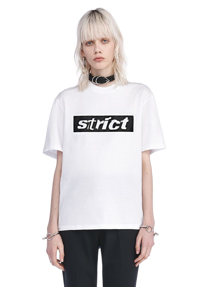 ALEXANDER WANG exclusives EXCLUSIVE CREWNECK T-SHIRT WITH PATCH