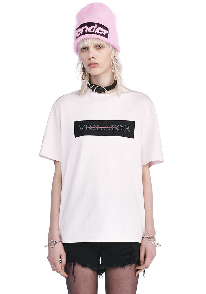 ALEXANDER WANG new-arrivals CREW NECK T-SHIRT WITH PATCH