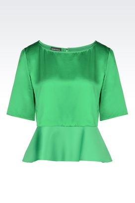 Armani Short-sleeved tops Women top in satin